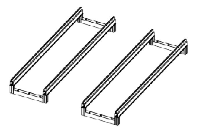 Slide in crossbraces to create individual frames