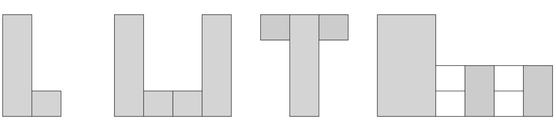 Form common or complex configurations
