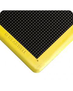 Shoe Sanitizing Mat - Standard Black with Yellow Borders