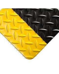 Diamond-Plate - Black with Yellow Borders